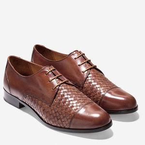 Cole Haan Jagger Woven Leather Oxfords NIB
